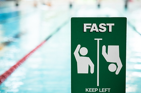 Fast lane swimming